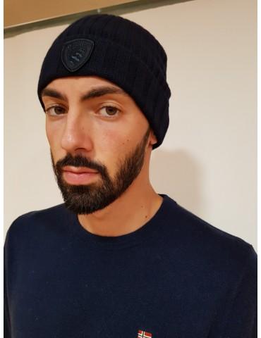 Blauer berretto blu