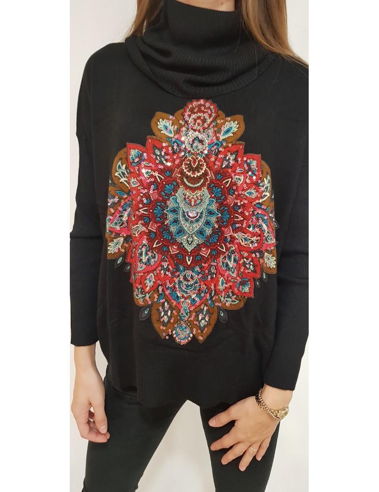 Desigual maglia donna nera Cassandra 18wwjfd05000 DESIGUAL MAGLIE DONNA 83,61€