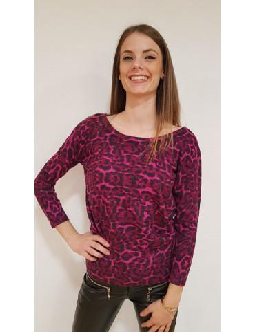 Gaudi burgundy shirt animal print