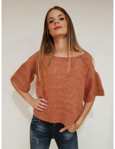 Gaudi short-sleeved women's sweater rope