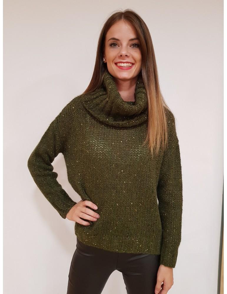 Fracomina maglia verde collo ad anello fr18fmdelicia206 FRACOMINA MAGLIE DONNA product_reduction_percent