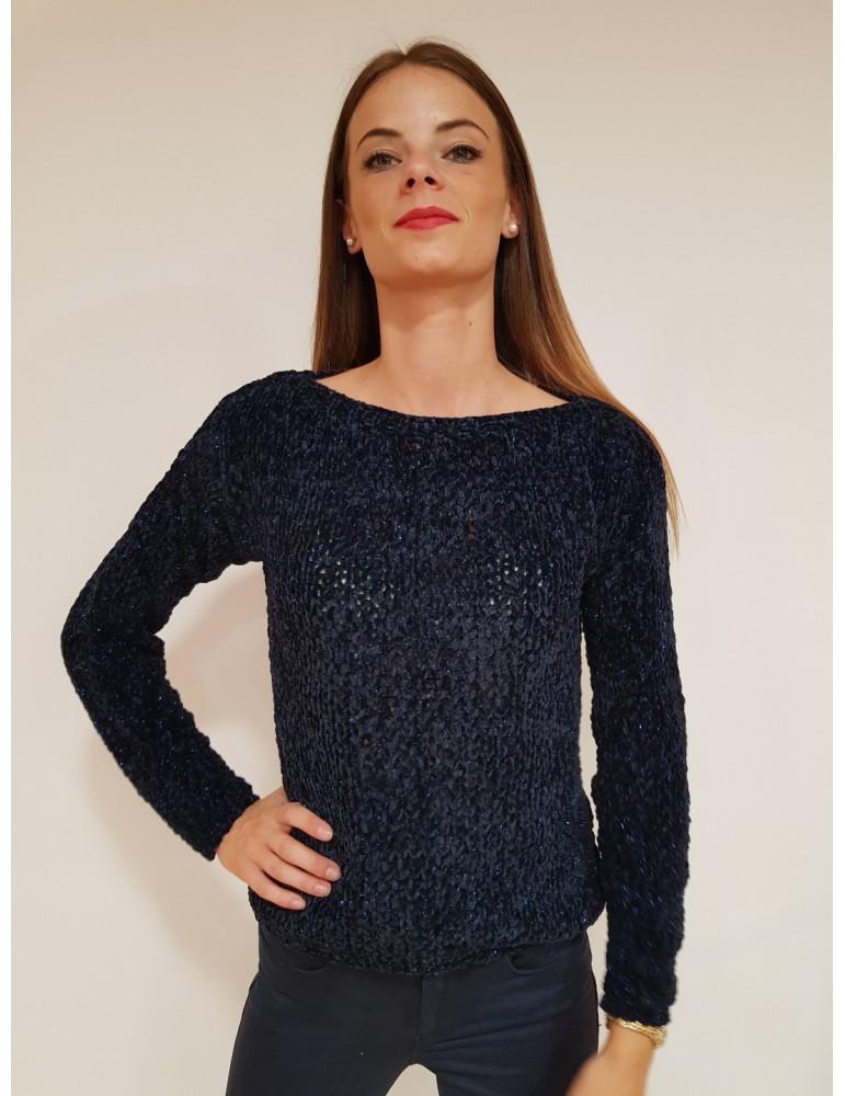 Fracomina maglia ciniglia blu fr18fp8167069 FRACOMINA MAGLIE DONNA product_reduction_percent
