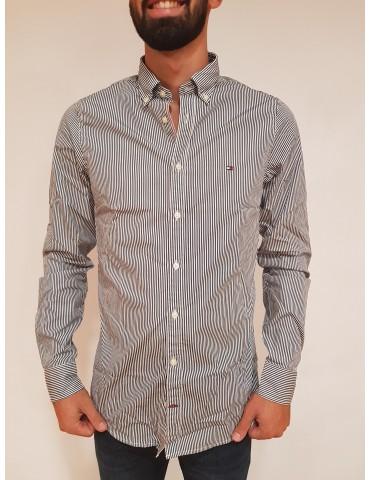 Striped blue Tommy Hilfiger men's shirt