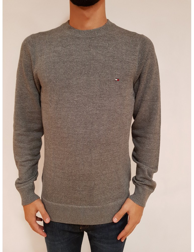 Tommy Hilfiger pullover girocollo grigio mw0mw07865043 TOMMY HILFIGER MAGLIE UOMO product_reduction_percent