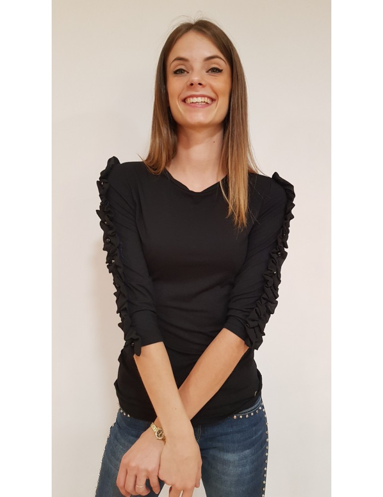 Fornarina t shirt nera Minerva w19minerva FORNARINA