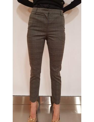 Fracomina grey tartan trousers