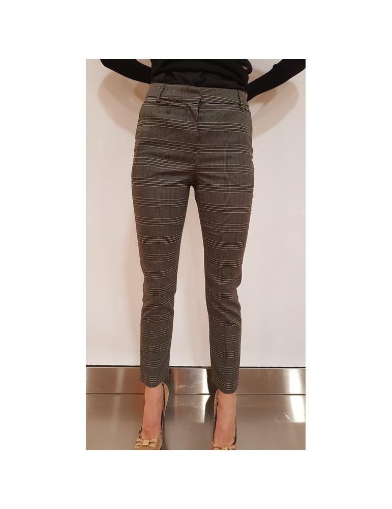 Fracomina pantalone tartan grigio fr18fp694c52 FRACOMINA PANTALONI DONNA product_reduction_percent