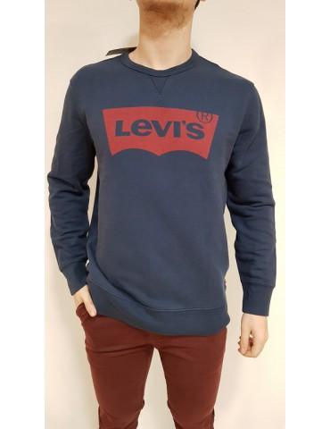 Levi's felpa uomo girocollo blu