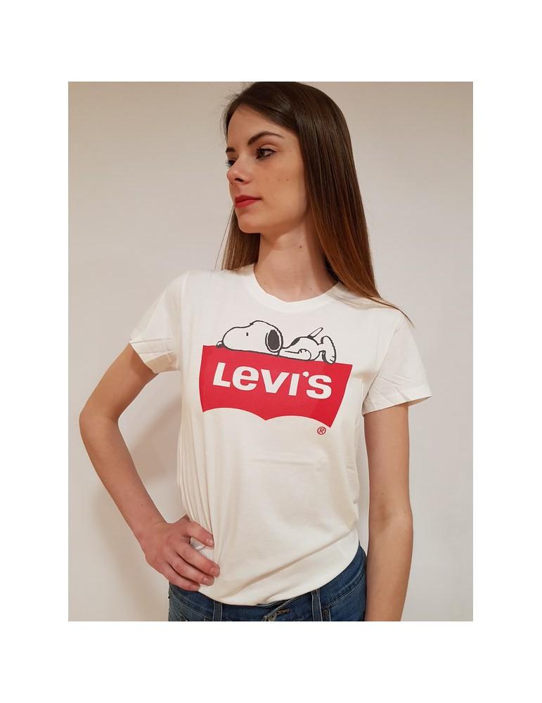 Levi's t shirt x peanus the perfect graphic tee bianca 17369-0329 LEVI'S T SHIRT DONNA 26,23€