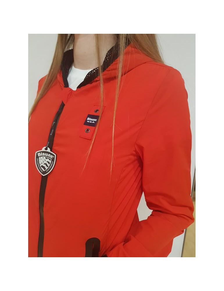 Blauer giubbotto rosso Eva in nylon con cappucio 18sbldc04424004889547 BLAUER USA