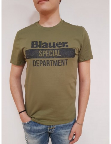 Blauer t shirt uomo verde special department