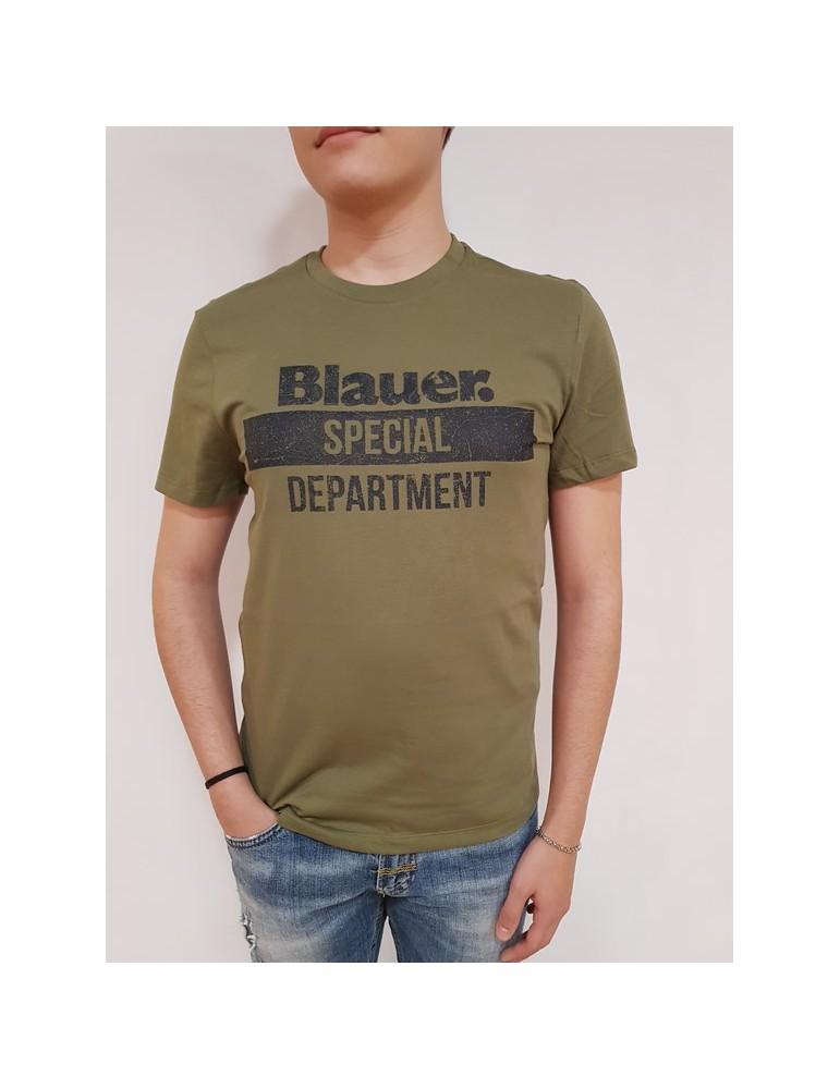 Blauer t shirt uomo verde special department 18sbluh02125004547651 BLAUER USA
