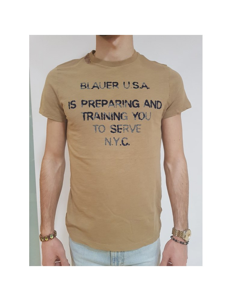 T shirt uomo Blauer N. 36 nocciola 18sbluh02131004898340 BLAUER USA T SHIRT UOMO 39,34€