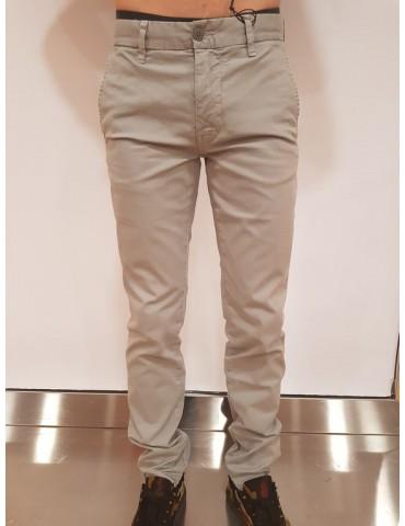 Blauer pantalone chino grigio uomo