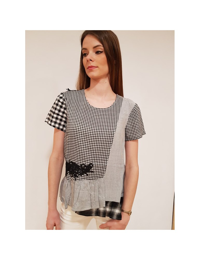 Desigual blusa Chloe nera 18swbw092000 DESIGUAL