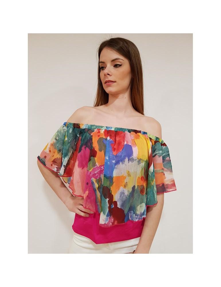 Desigual blusa Allegra azalea 18swbw743135 DESIGUAL