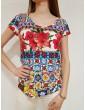 T shirt donna Desigual Monique multicolor 18swtk313000 DESIGUAL