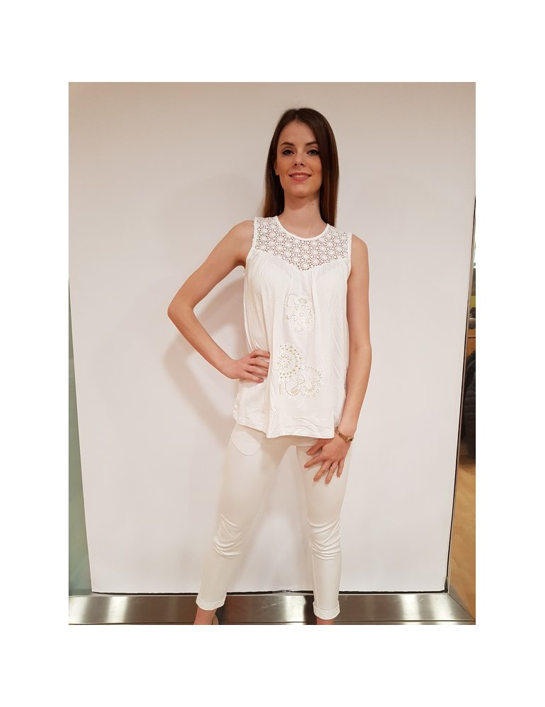 Desigual t shirt Garance bianca 18swtkb21000 DESIGUAL T SHIRT DONNA 40,98€