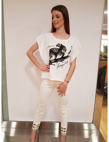 Desigual t shirt Delia bianca