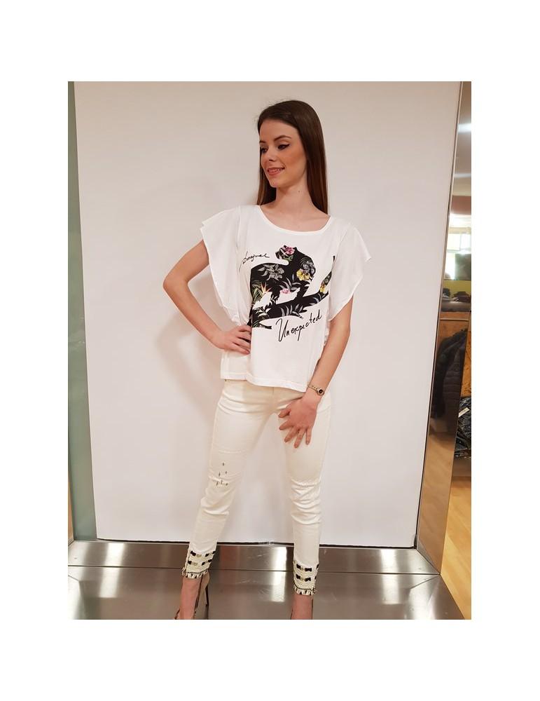 Desigual t shirt Delia bianca 18swtkfo1000 DESIGUAL T SHIRT DONNA 29,51€