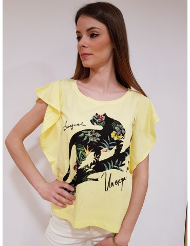 Desigual t shirt Delia gialla