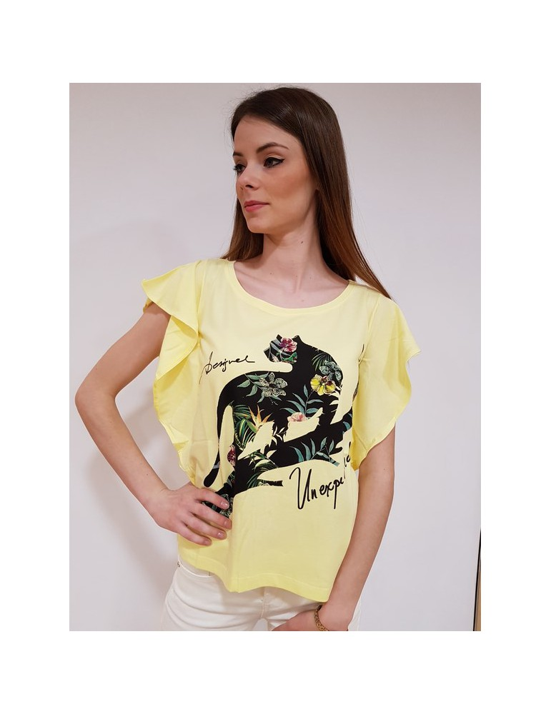 Desigual t shirt Delia gialla 18swtkfo8058 DESIGUAL T SHIRT DONNA 29,51€