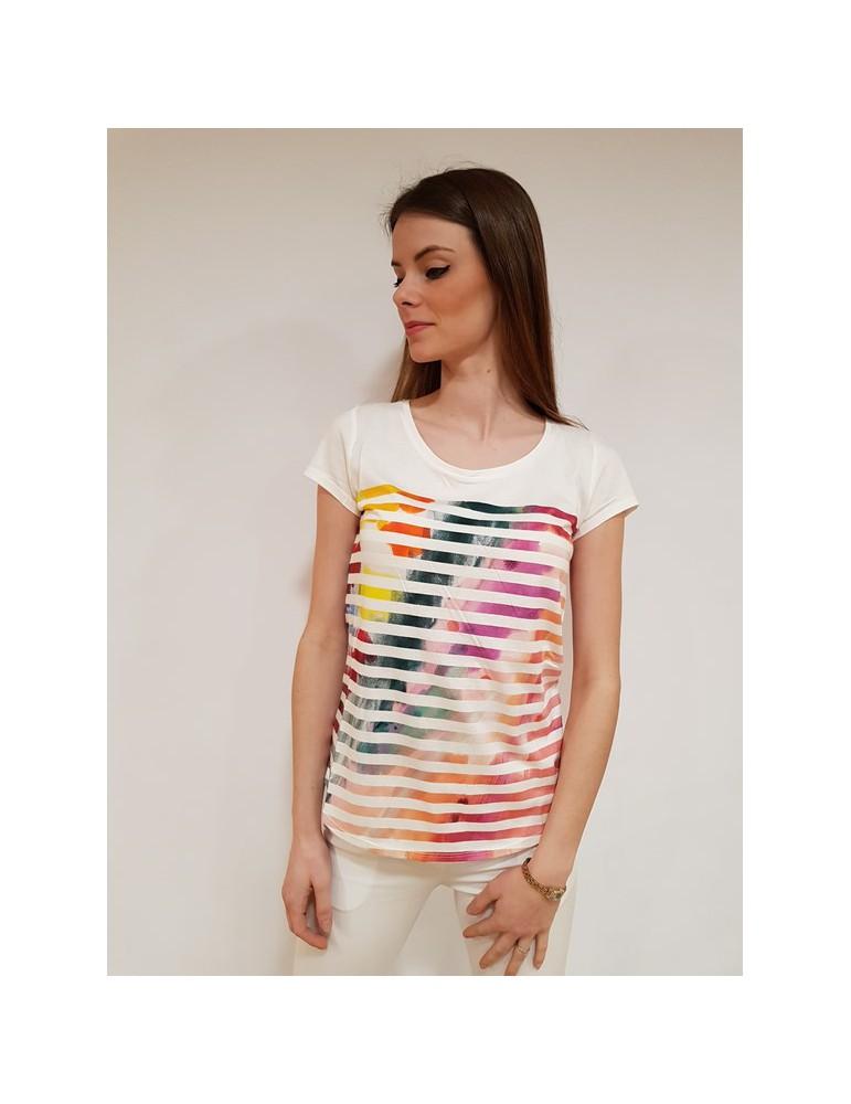 Desigual t shirt bianca im blau 18swtki91004 DESIGUAL T SHIRT DONNA 29,51€