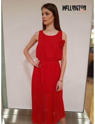 Gaudì abito lungo plissè 811fd15041 rosso