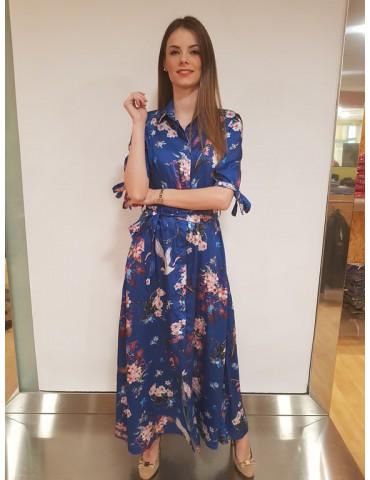 Gaudì abito lungo chemisier 811fd15050 blu