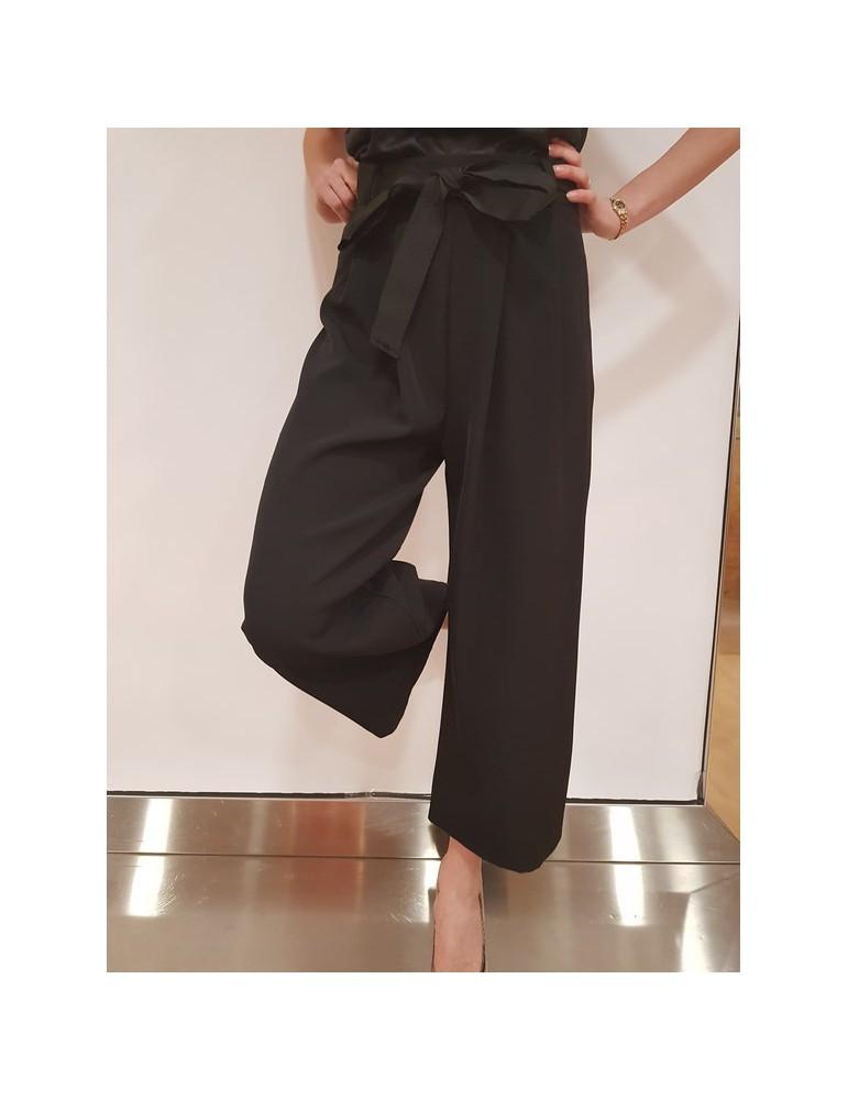 Pantalone donna Gaudì con cintura 25029 nero 811fd250292001 GAUDI