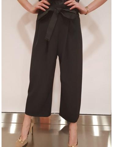 Pantalone donna Gaudì nero con cintura