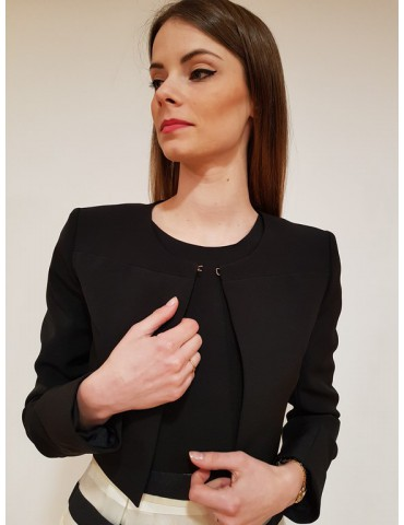 Giacca donna nera Gaudì manica lunga 811fd35015