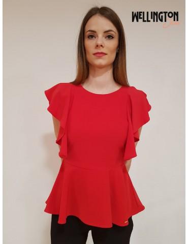 Gaudì blusa rossa maniche rouges