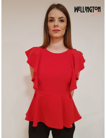 Gaudì red blouse sleeves rouges