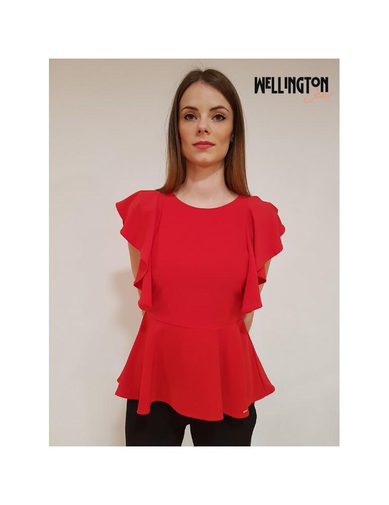 Gaudì blusa rossa maniche rouges 811fd450012468 GAUDI CAMICIE DONNA product_reduction_percent