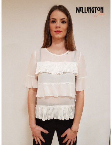 Gaudì double white blouse
