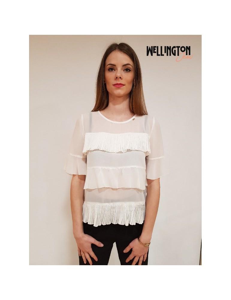 Gaudì blusa doppia balza bianca 811fd450232121 GAUDI CAMICIE DONNA product_reduction_percent
