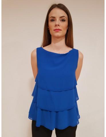 Gaudì blusa giro manica 811fd45050 bluette