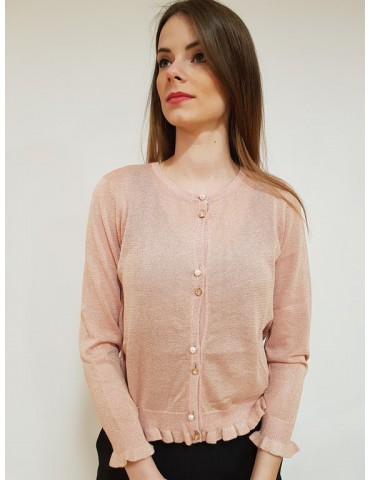 Cardigan donna Gaudì manica lunga 811fd53008 rosa
