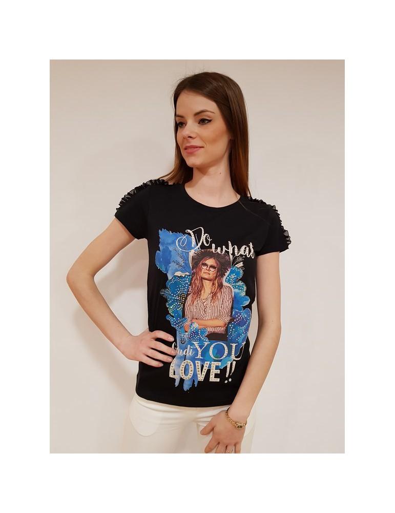 Gaudì t shirt mezza manica 64016 nera 811fd640162001 GAUDI T SHIRT DONNA 37,70€