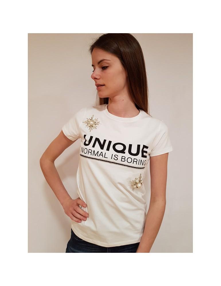 Gaudì t shirt con stampa e applicazioni bianca 811fd640372100 GAUDI T SHIRT DONNA 40,98€