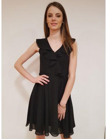 Vestito Fracomina con voilant nero