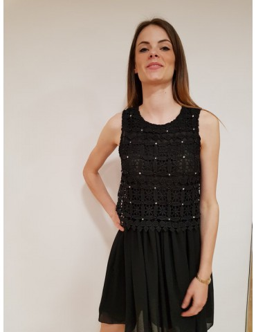 Fracomina vestito nero delicato e sofisticato