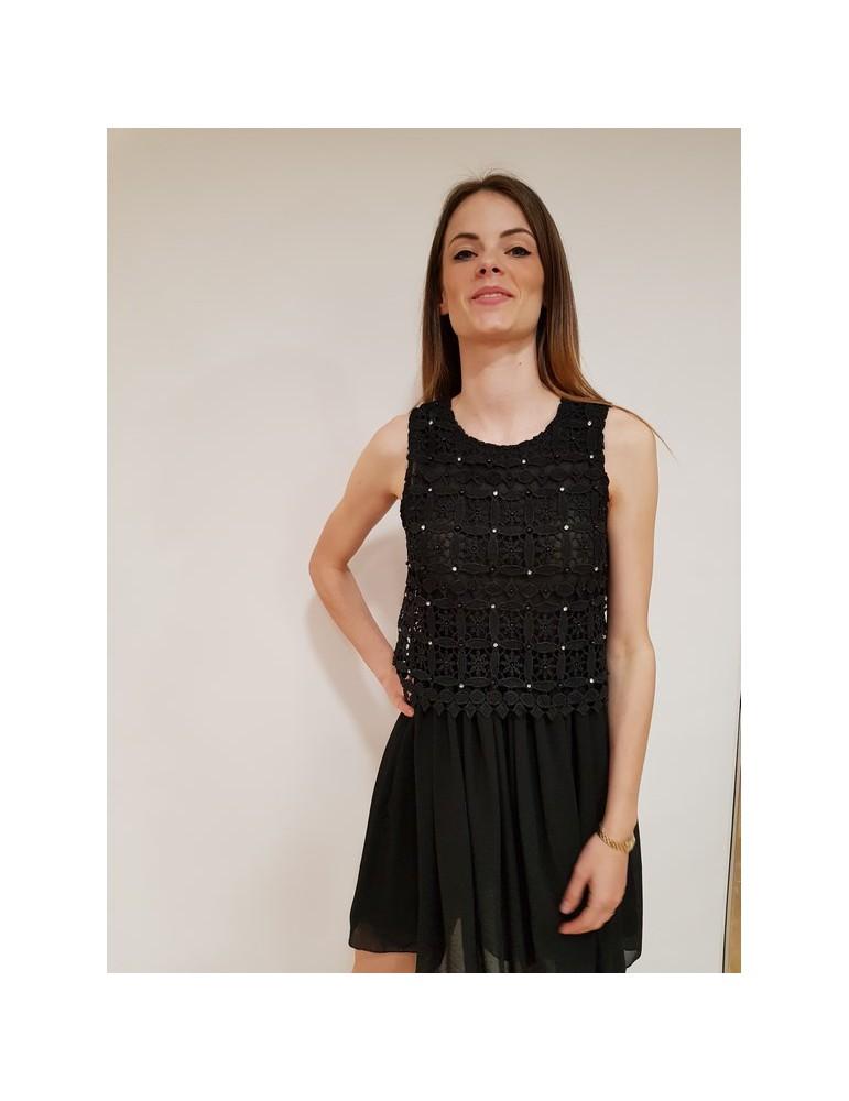 Fracomina vestito nero delicato e sofisticato fr18sm511053 FRACOMINA ABITI DONNA 90,16€