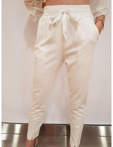 Fracomina pantalone relax crema