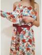 Fracomina long dress fantasia crema fr18sm623108 FRACOMINA
