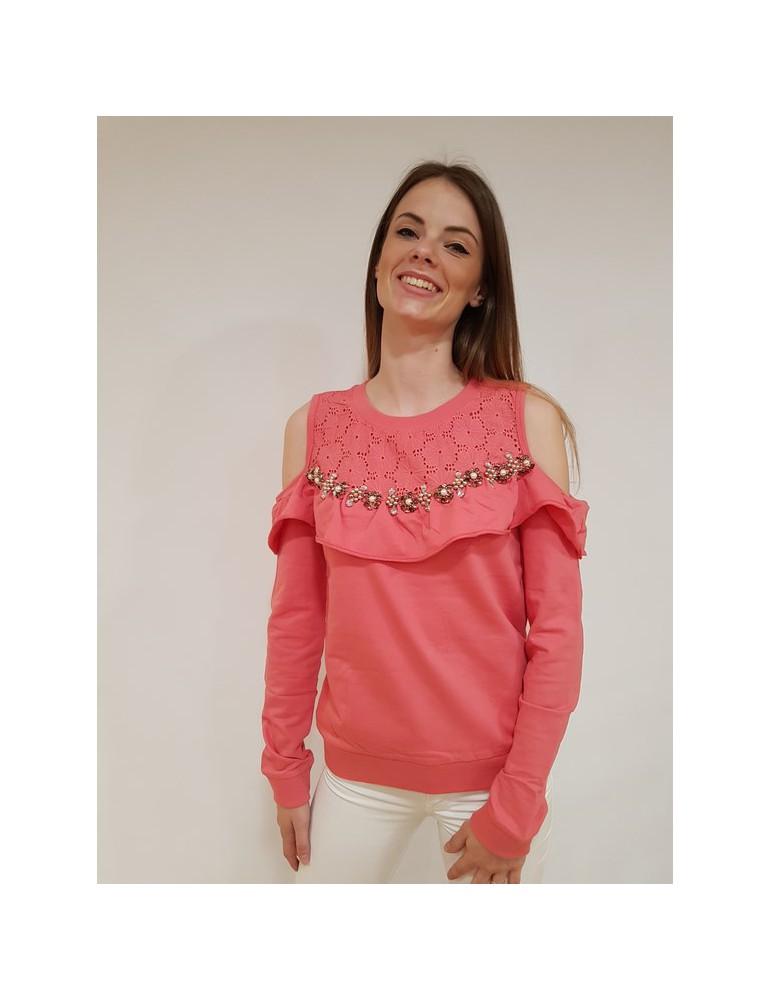 Fracomina felpa rosa fr18sm914226 FRACOMINA FELPE DONNA 73,77€
