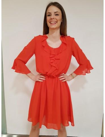 Fracomina abito svasato rosso