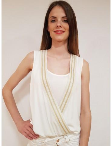 Fracomina camicia body bianca