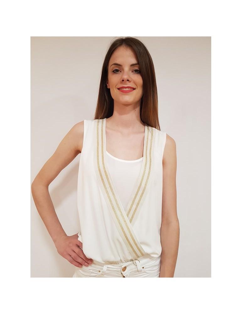 Fracomina camicia body bianca fr18sp096108 FRACOMINA CAMICIE DONNA 57,38€